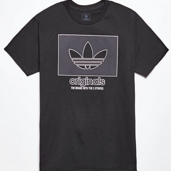 adidas Logo Knockout Outline Black T-Shirt at PacSun.com