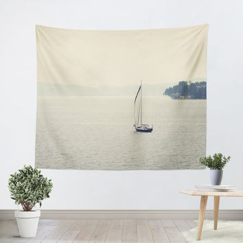 Hazy Sea Tapestry