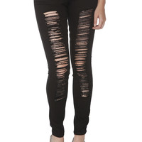 LOVEsick Black Deconstructed Skinny Jeans | Hot Topic