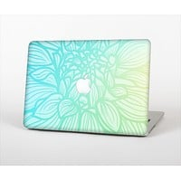 The Faded Blue & Green Subtle Floral Skin Set for the Apple MacBook Pro 15""