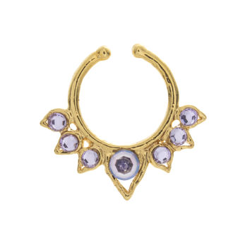 Fancy Lavender Jewel Aurora Clip