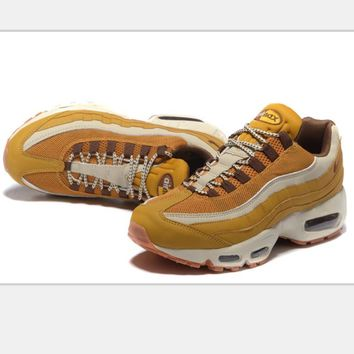 NIKE Air max 95 Sneakers Running Sports Shoes gold-brown H-MDTY-SHINING