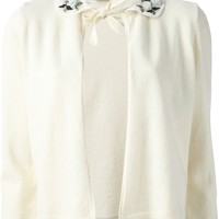 RED VALENTINO rose detail cardigan