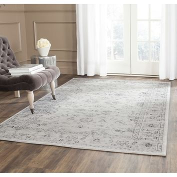 Safavieh Vintage Oriental Grey/ Ivory Distressed Rug (5'1 x 7'7) | Overstock.com Shopping - The Best Deals on 5x8 - 6x9 Rugs