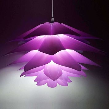 Creative DIY Lotus Chandelier PP Pendant Droplight Shade Ceiling Room Decoration Puzzle Lights Modern Lamp For Dinning Room