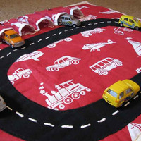 Car Play Mat Pattern, roll up for convenient storage, INSTANT DIGITAL DOWNLOAD, boys toys, travel organizer, Dinky toy car storage.