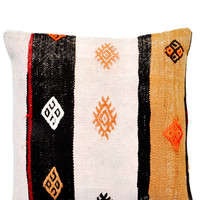 "16"" Kilim Pillow, Southwest Stripe"