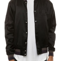 The School Yard Varsity Jacket in Black