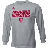 adidas Youth Indiana Hoosiers Heather Grey Ultimate Long Sleeve Shirt - Dick's Sporting Goods