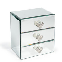 Lisa mirrored 3-drawer box