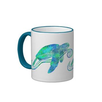 Sea Turtle Graphic Coffee Mug