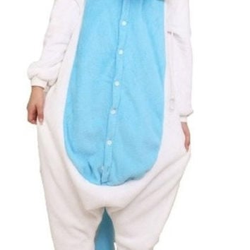 Christmas Gift Triline New Adult Kigurumi Animal Sleepsuit Pajamas Costume Cosplay Unicorn Onesuit Blue = 1929606916