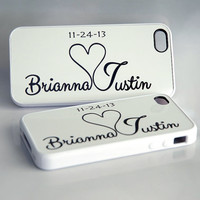 Couples Matching Black + White iPhone Cases + Silicone iPhone Cases