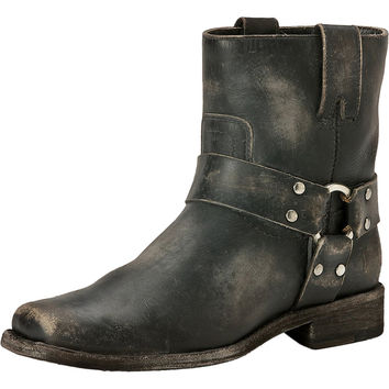 Frye Smith Harness Short Boot - Women's Black Stone Wash,