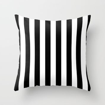 #16 Lines Throw Pillow by Minimalist Forms
