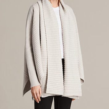 ALLSAINTS UK: Womens Sefir Cardigan (PORCELAIN WHITE)