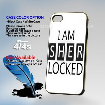 Sherlock Holmes white, Photo On Hard Plastic iPhone 4 4S Case