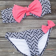 Sailor's Girl Black Chevron Pink Bow Bandeau Bikini