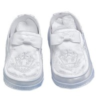 Lauren Madison Baby boy Christening Baptism Satin Loafer Style Shoes