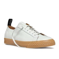 PF Flyers Nubuck Rambler Low in White Suede