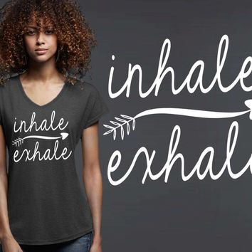 Inhale Exhale T-shirt | Yoga Shirt