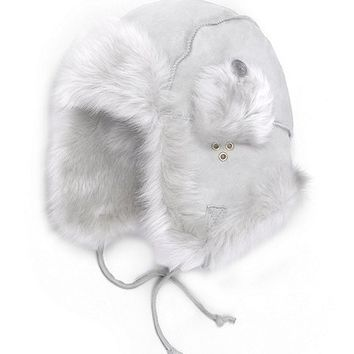 Shearling Trapper Hat - Brooks Brothers