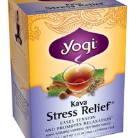 Yogi Herbal Tea, Kava Stress Relief, 16 Tea Bags (Pack of 6)
