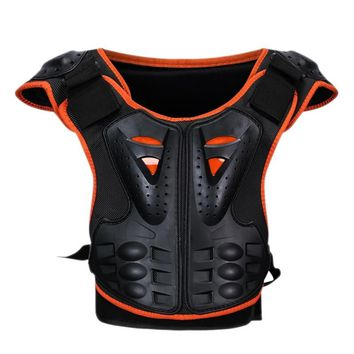 New Children Roller Skateboard Ice Skating Back Chest Protector Reflective Armor Outdoor kids Sport Breathable Clothing