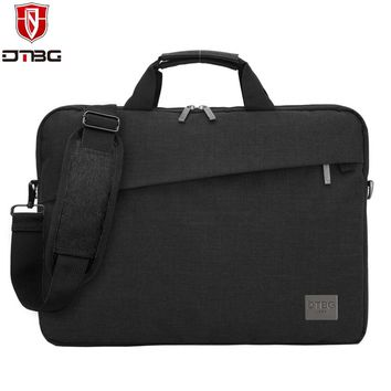 DTBG Laptop Handbag 13.3 15.6 inch Briefcase Tote for Men Waterproof Laptop Bag Sleeve for Macbook DELL HP Nylon Shoulder Bags