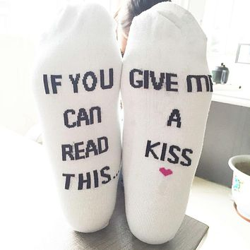 If You can read this Bring Me a Coffee Printed Socks - Women's Casual Socks