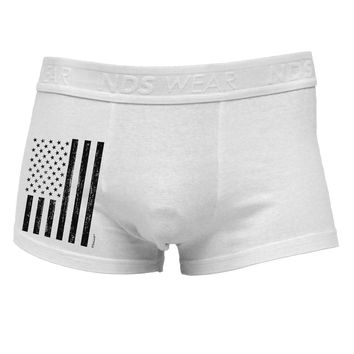Stamp Style American Flag - Distressed Side Printed Mens Trunk Underwear by TooLoud
