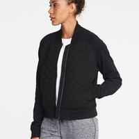 Quilted Fleece Bomber Jacket for Women | Old Navy