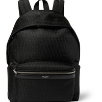 Saint Laurent - Leather-Trimmed Monogrammed Jacquard Backpack | MR PORTER