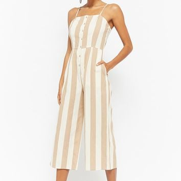Striped Cami Culotte Jumpsuit