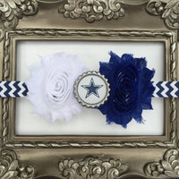 NFL Dallas Cowboys inspired headband- perfect for football season! Dallas Cowboys baby headband, Dallas Cowboys girl