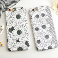Personality daisy drawing phone case for iPhone 5 5s SE 6 6s 6plus 6splus 7 7plus 1018J01