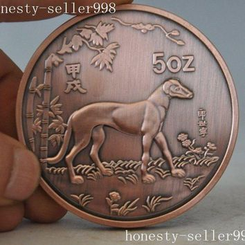 christmas Christmas gift  Chinese collection Rare 1994 zodiac dog animal beast commemorative coins halloween