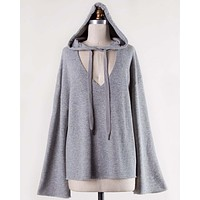 Sweet Tie Sweatshirt in Gray