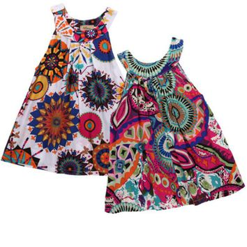 Toddler Kid Baby Girl Summer Lace Crochet Dress Princess Party Pageant Dresses C