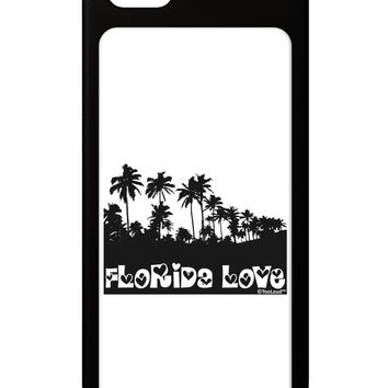 Florida Love - Palm Trees Cutout Design iPhone 5 / 5S Grip Case  by TooLoud