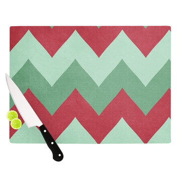 "Catherine McDonald ""Holiday Chevrons"" Cutting Board"