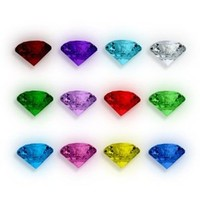 12 Crystal Birthstones for Floating Charm Lockets
