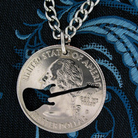 Electric Guitar hand cut coin