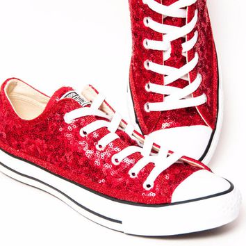 Starlight Sequin Name Brand Canvas Low Tops