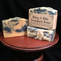 French Quarter Voodoo 19th Century Black Lager Cold Process Soap - Vegetable Based with Herbs & Essential Oils