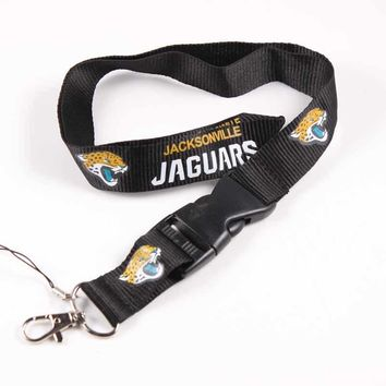 55cm Mobile Phone Lanyard Sport Fashion Jacksonville Jaguars Key Lanyard Detachable Keychains Neck Straps Anti-lost Phone Chain