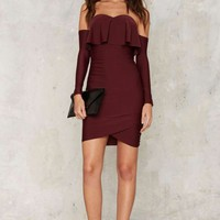 Ruche Hour Mini Dress