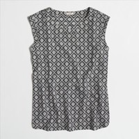 Factory printed drapey sleeveless top : Shirts & Tops | J.Crew Factory