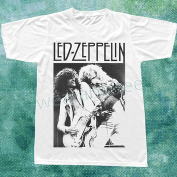 Led Zeppelin TShirts Hard Rock TShirts Heavy Metal Shirts White Shirts Unisex Tee Shirts Women Tee Shirts Men Tee Shirts