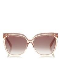 Crystal Adorned Nude Beige Framed Sunglasses | Sophia | Spring Summer 14 | JIMMY CHOO Accessories